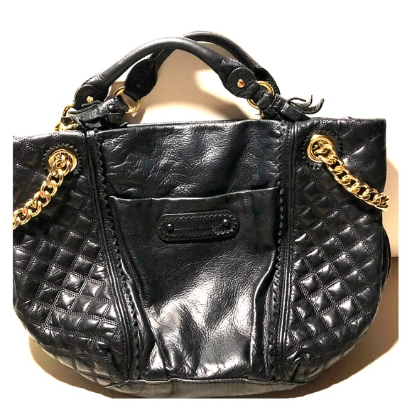 Juicy Couture Handbags - Juicy Couture quilted black leather tote